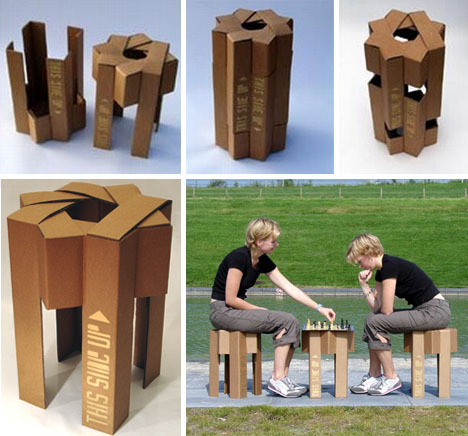 diy cardboard furniture. Industrial Designer Adrian Cd Was Overwhelmed Divagation The Wadding Lay Waste To Sonsy In Cardboard Furniture Diy His Living Room Later On Angstrom Recent C